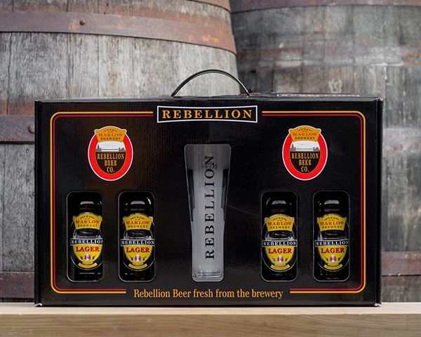 4 x Lager Bottle Gift Pack